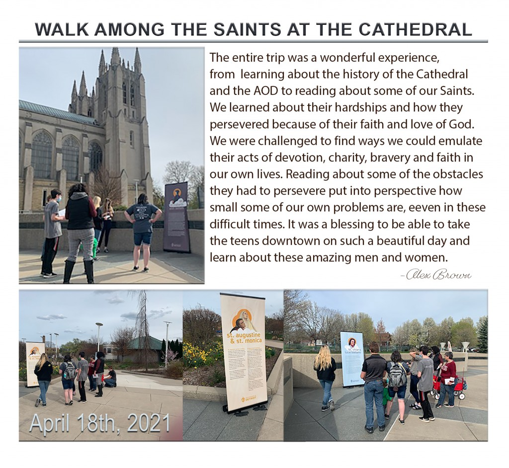 Walk Among The Saints at the Cathedral