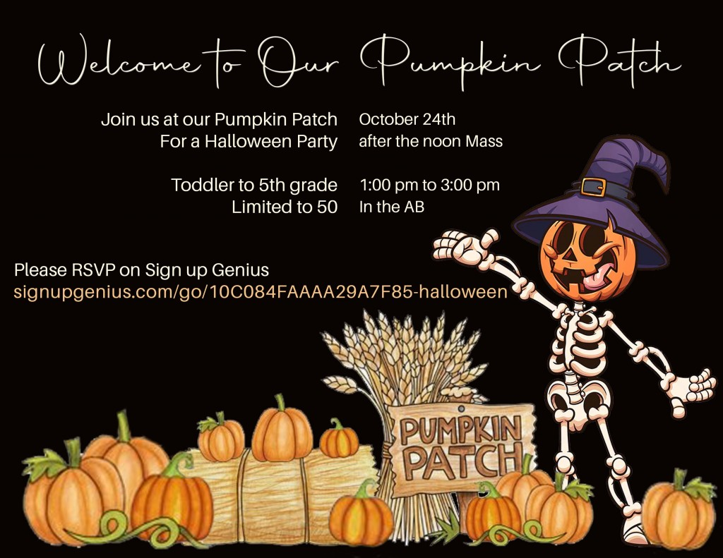 invite to our pumpkin patch